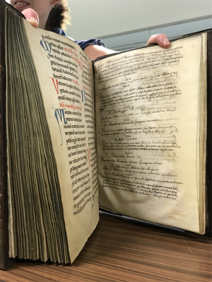 Parchment book (Orval abbey  collection, Luxembourg national library)
